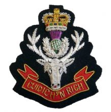 Queens Own Highlanders - Blazer Badge